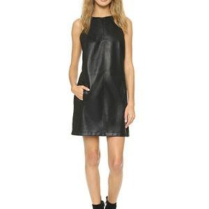 BB Dakota Iggy Faux Leather Shift Dress S